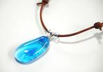 55.沖縄球ガラスのネックレス